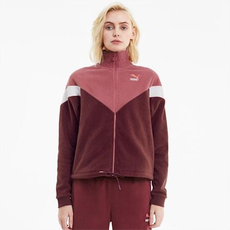 MCS Polar Fleece Women's Track Jacket, Burgundy, small