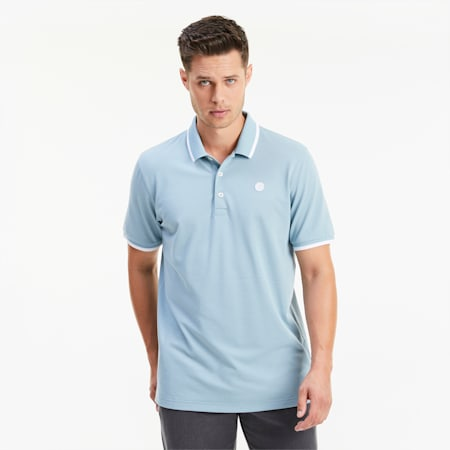 PUMA x ARNOLD PALMER Signature Tipped Herren Golf Polo, Stone Blue, small