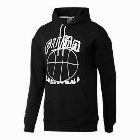 Pass the Rock Men's Hoodie, Puma Black, small-SEA