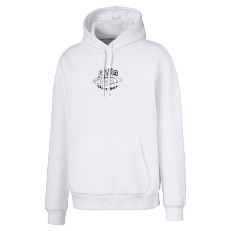 Hoops Men's Hoodie, Puma White, small-SEA