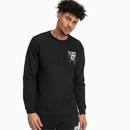 Don't Flinch Herren Langarm-Shirt, Puma Black, small
