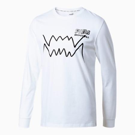 T-shirt à manches longues Bite, homme, Blanc Puma, petit