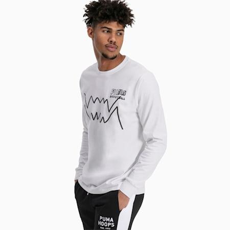 T-shirt a maniche lunghe da uomo Bite, Puma White, small