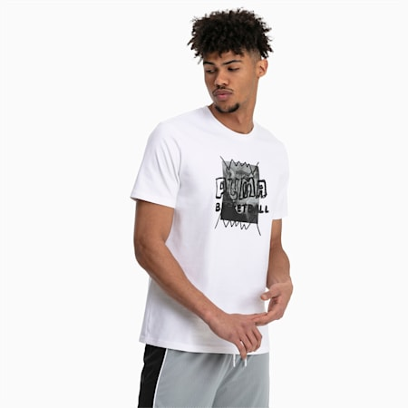Street Herren T-Shirt, Puma White, small