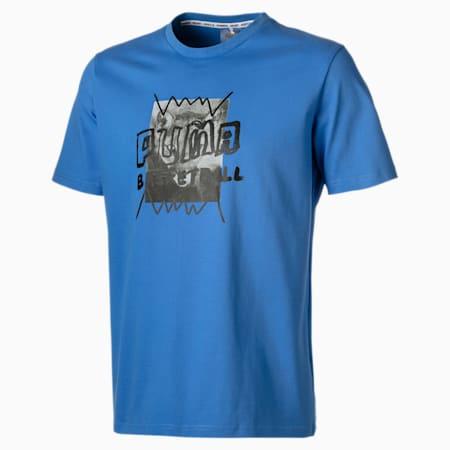 Street-t-shirt til mænd, Palace Blue, small