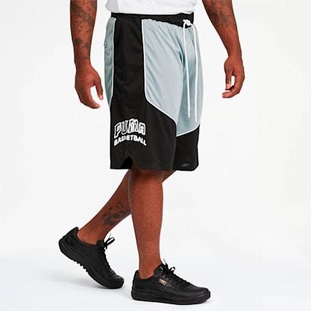 Shorts deportivos  Hoops parahombre, Puma Black, pequeño