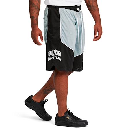 Hoops Game Men's Basketball Shorts, Puma Black, small-SEA