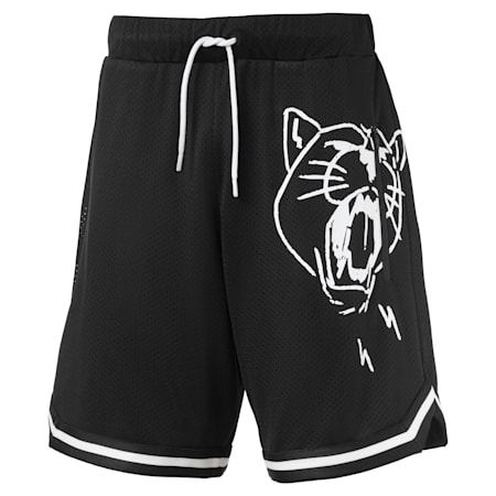 Noise Men's Basketball Shorts, Puma Black, small-SEA