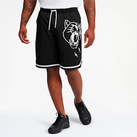 Hoops Noise Men's Shorts, Puma Black, small
