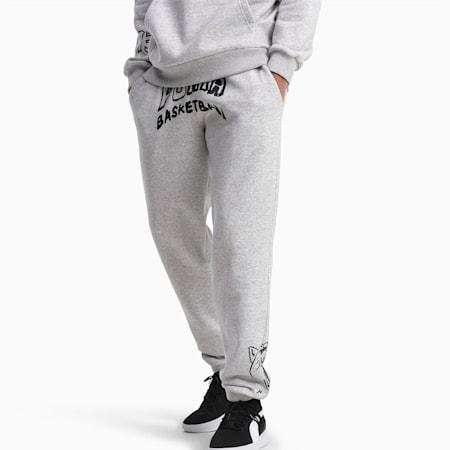 Court Herren Fleece Sweatpants, Light Gray Heather, small