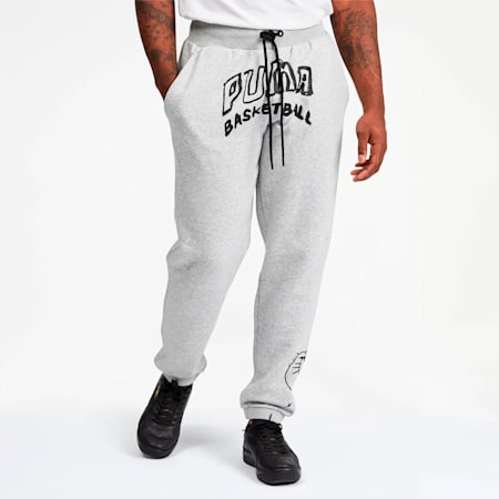 Court Men's Sweatpants, Light Gray Heather, small