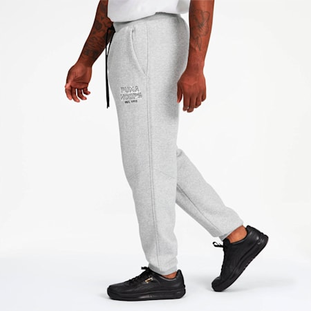 Hoops Cozy Men's Sweatpants, Light Gray Heather, small