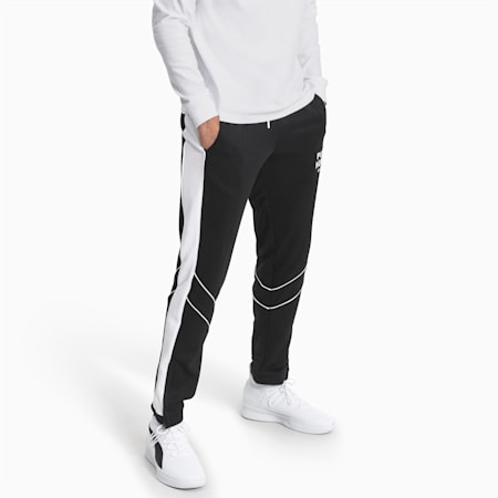 Hoops Since '73 Men's Track Pants, Puma Black-Puma White, small