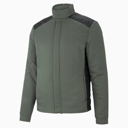 Porsche Design Men's Racing Jacket, Thyme, small