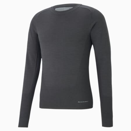 Porsche Design evoKNIT Crew Neck Men's Sweater, Asphalt, small
