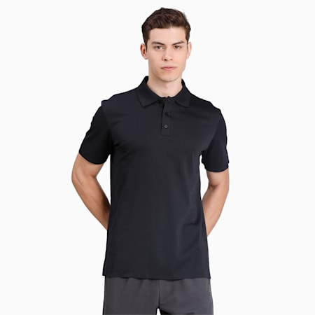 Porsche Design Men's Polo Shirt, Jet Black, small