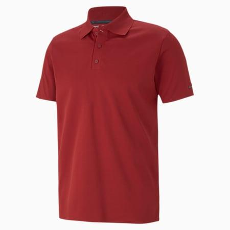 Porsche Design Men's Polo Shirt, Red Dahlia, small-SEA