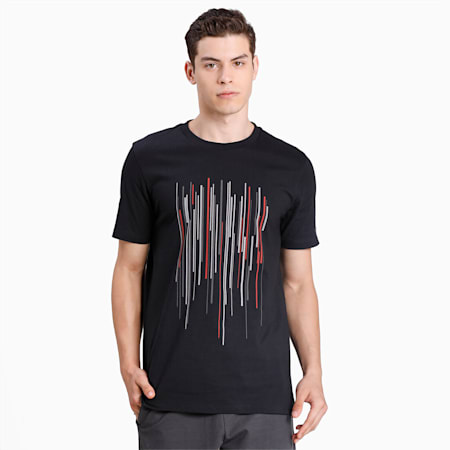 Camiseta Porsche Design Graphic para hombre, Jet Black, small