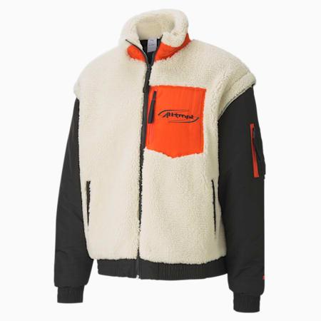 PUMA x ATTEMPT Men's Sherpa Bomber Jacket, Puma Black, small