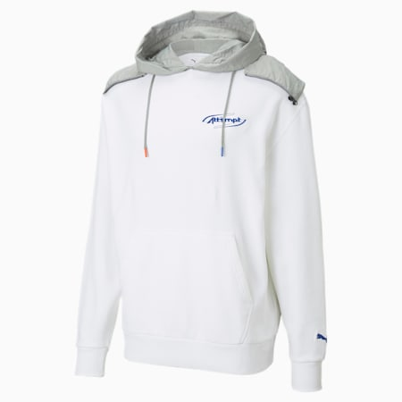 PUMA x ATTÈMPT Men's Hoodie, Puma White, small