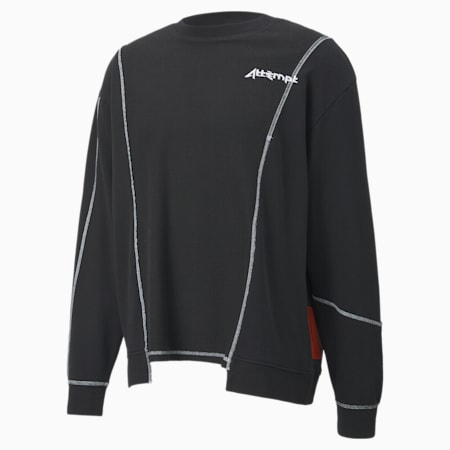 PUMA x ATTEMPT Deconstructed Herren Rundhals-Sweatshirt, Puma Black, small