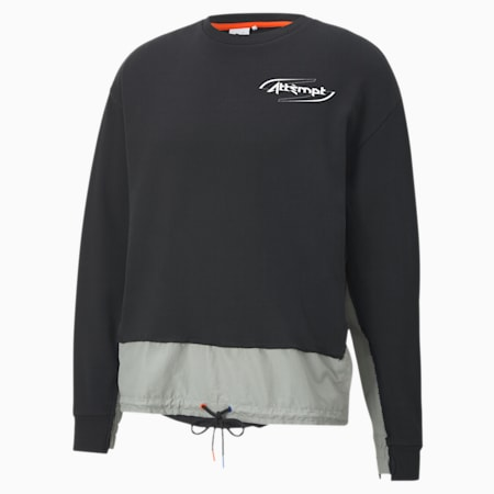 Sudadera para hombre PUMA x ATTEMPT Crew Neck, Puma Black, small