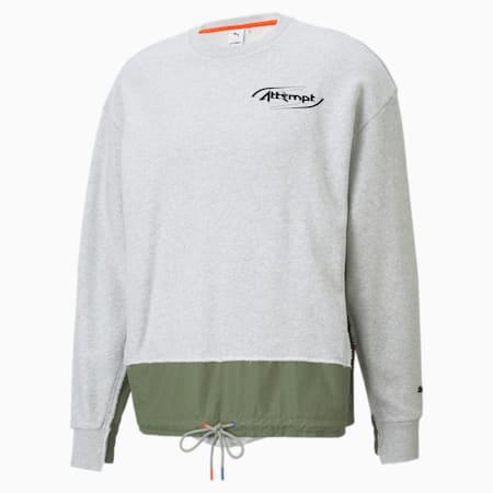 PUMA x ATTEMPT Herren Rundhals-Sweatshirt, Light Gray Heather, small