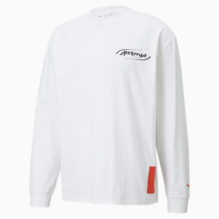PUMA x ATTEMPT Long Sleeve Men's Tee, Puma White, small