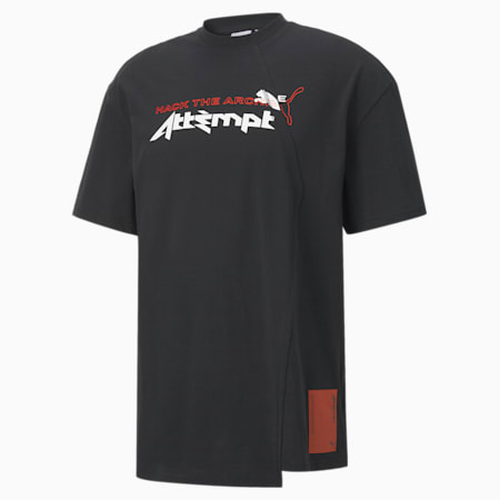 Camiseta para hombre PUMA x ATTEMPT, Puma Black, small