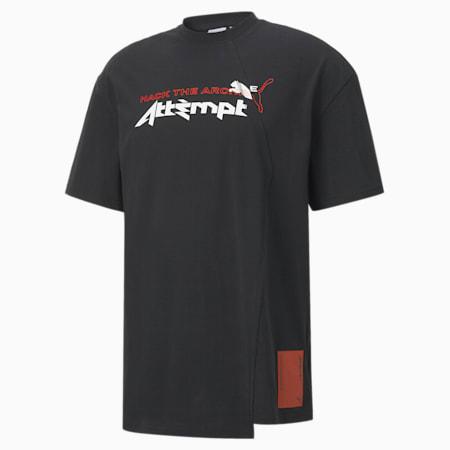 PUMA x ATTEMPT T-shirt voor heren, Puma Black, small