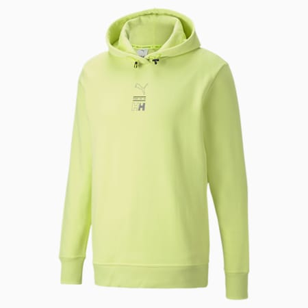 PUMA x HELLY HANSEN Hoodie, Sunny Lime, small