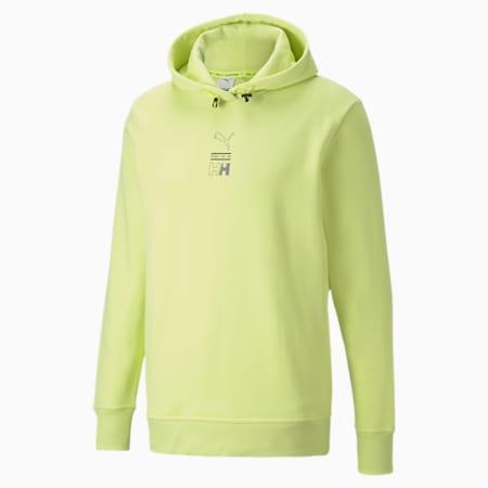 Sweatshirt à capuche PUMA x HELLY HANSEN, Sunny Lime, small