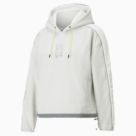PUMA x HELLY HANSEN Women's Polar Fleece Hoodie, Glacier Gray, small