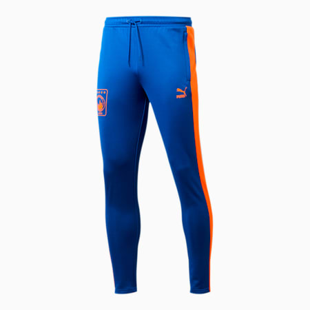 NYC Men's T7 Track Pants, Surf The Web-RED ORANGE, small