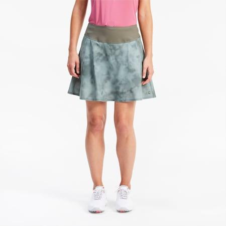 PWRSHAPE Tie Dye Women's Golf Skirt, Thyme, small
