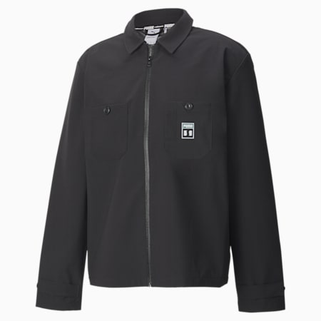 PUMA x THE HUNDREDS Men's Chore Jacket, Puma Black, small