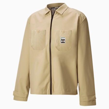 PUMA x THE HUNDREDS Men's Chore Jacket, Safari, small