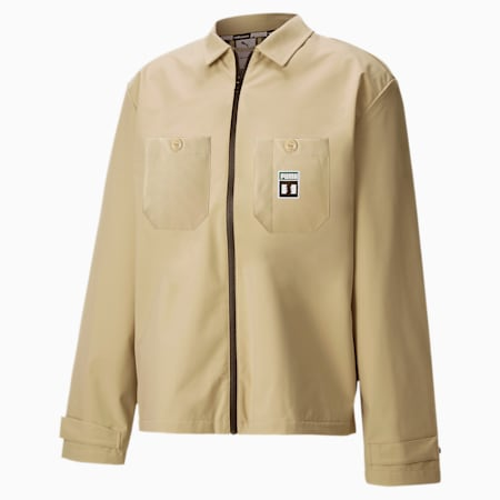 PUMA x THE HUNDREDS Men's Chore Jacket, Safari, small