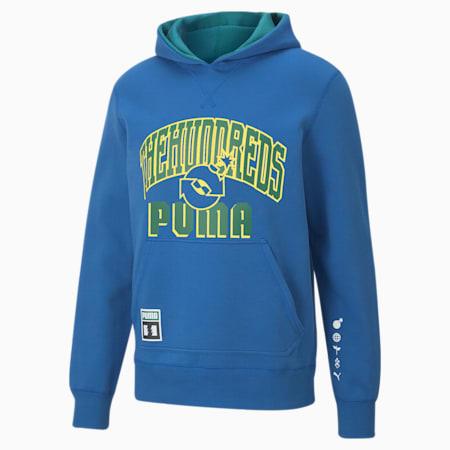 Sweatshirt à capuche réversible PUMA x THE HUNDREDS pour homme, Olympian Blue, small