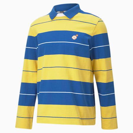 PUMA x THE HUNDREDS Crew Neck Men's Polo Shirt, Olympian Blue, small-IND