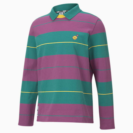 PUMA x THE HUNDREDS Crew Neck Men's Polo Shirt, Ivy, small