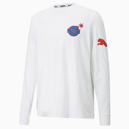 PUMA x THE HUNDREDS Long Sleeve Men's Tee, Puma White, small