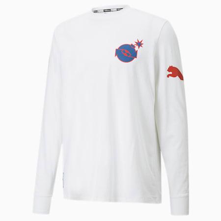 T-Shirt à manches longues PUMA x THE HUNDREDS pour homme, Puma White, small