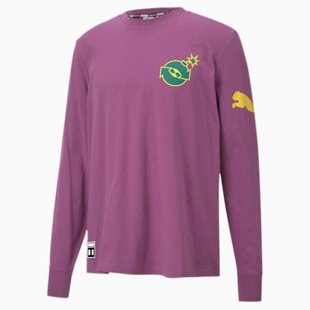 PUMA x THE HUNDREDS  長袖 Tシャツ, Amethyst, small-JPN