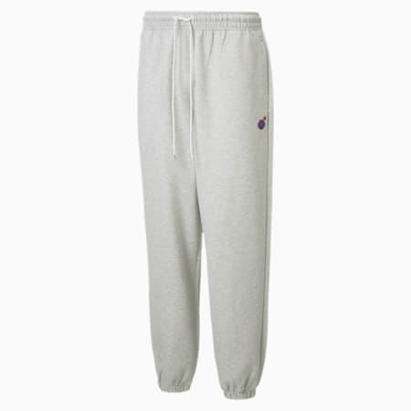 PUMA x THE HUNDREDS Herren Sweatpants, Light Gray Heather, small
