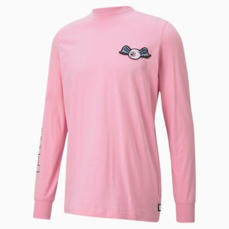 PUMA x VON DUTCH Long Sleeve T-shirt voor heren, PRISM PINK, small