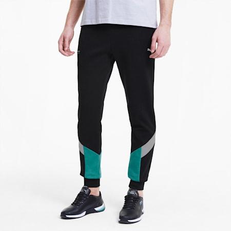 Mercedes Slim Fit Men's Sweatpants, Puma Black, small-IND