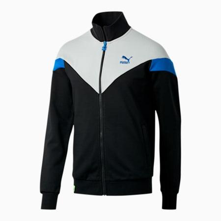 NYC Men's MCS Track Jacket, Puma Black-Vapor Blue, small