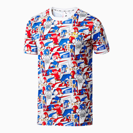 PUMA x SONIC All-Over Printed Men's Tee, Puma White-Gold, small-SEA