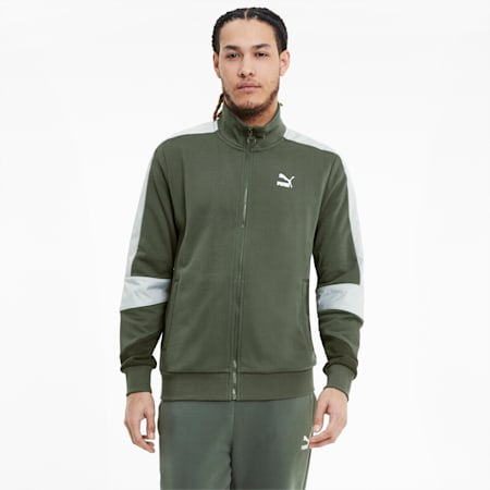 Tailored for Sport Retro Fusion Men's Track Jacket, Thyme, small